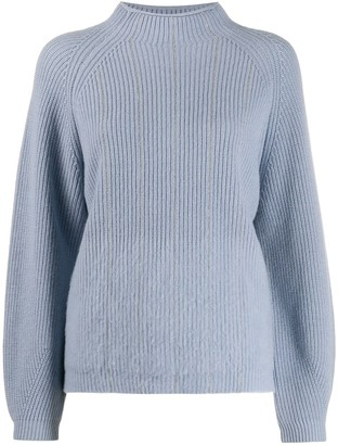 Peserico Chain Trim Mock Neck Sweater
