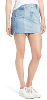 AG Jeans Women's Sandy Raw Edge Denim Miniskirt