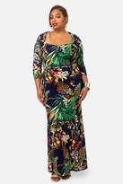 Fashion to Figure Havana Tropical Maxi Dress