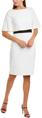 Adrianna Papell Pop-Over Sheath Dress