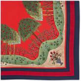 Gucci Forest print silk scarf