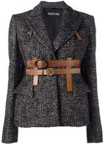 Tom Ford belted fitted jacket