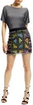 Nicole Miller Printed Tweed Mini Skirt