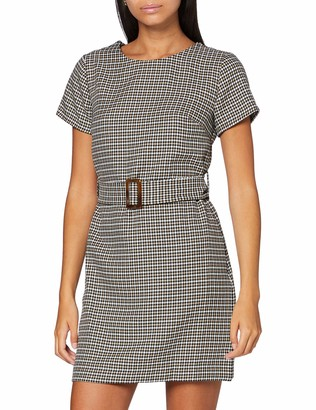 Dorothy Perkins Petite Women's Black Checked Dress 12