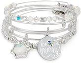 Alex and Ani Be Merry 4-Piece Charm Bangle Bracelet