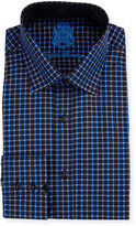 English Laundry Check Long-Sleeve Dress Shirt, Royal Blue