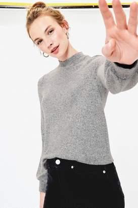 Oasis Womens Grey Balloon Sleeve Knit Jumper - Grey