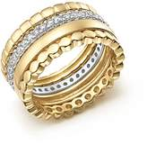 Bloomingdale's Diamond Stackable 4 Band Ring Set in 14K White and Yellow Gold, .70 ct. t.w. - 100% Exclusive