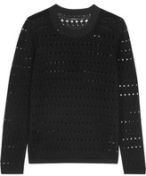 J Brand Colony Open-Knit Cotton And Cashmere-Blend Sweater
