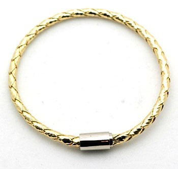Accessories & Beyond - Braided Gold Magnetic clasp bracelets