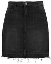 Current/Elliott The Skinny Stretch-Denim Mini Skirt