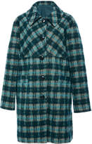 Anna Sui Brushed Tartan Coat