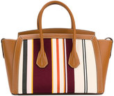 Bally striped oversized tote