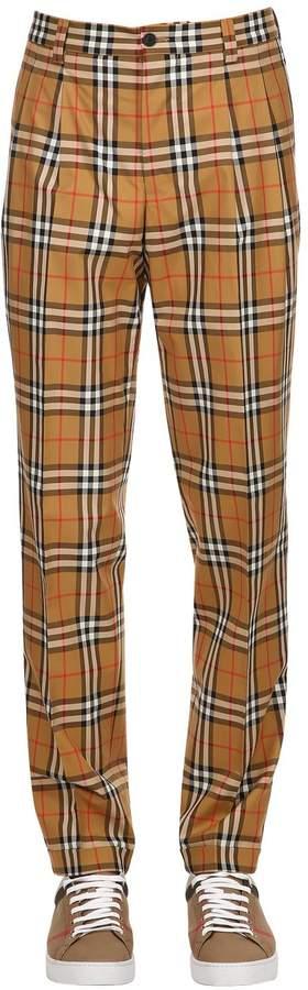 Burberry Check Cotton Poplin Pants
