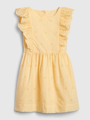 Gap Toddler Eyelet Ruffle Dress