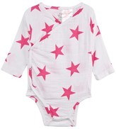 Aden Anais Aden + Anais Pink Star Print Kimono Bodysuit