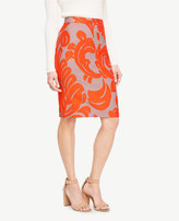 Ann Taylor Home Skirts Curvy Fan Leaf Pencil Skirt Curvy Fan Leaf Pencil Skirt