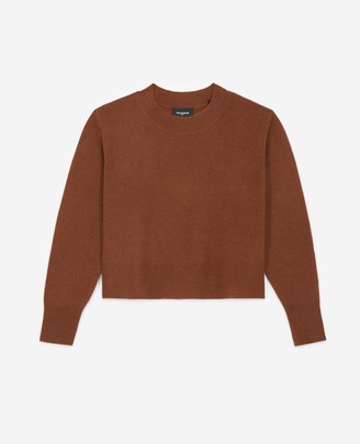 The Kooples Plain tobacco brown cashmere sweater