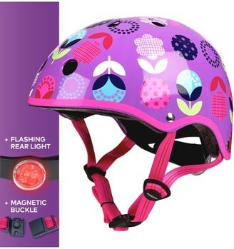 Micro Deluxe Scooter Helmet, Floral Dot, Medium
