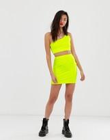 Asos DESIGN neon bodycon mini skirt