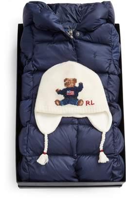 Ralph Lauren Coat & Hat 2-Piece Gift Set