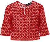 Jenny Packham Embellished Tulle Top - Red