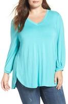 Melissa McCarthy Plus Size Women's Long Sleeve Jersey Top