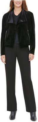 Calvin Klein Velvet Moto-Jacket