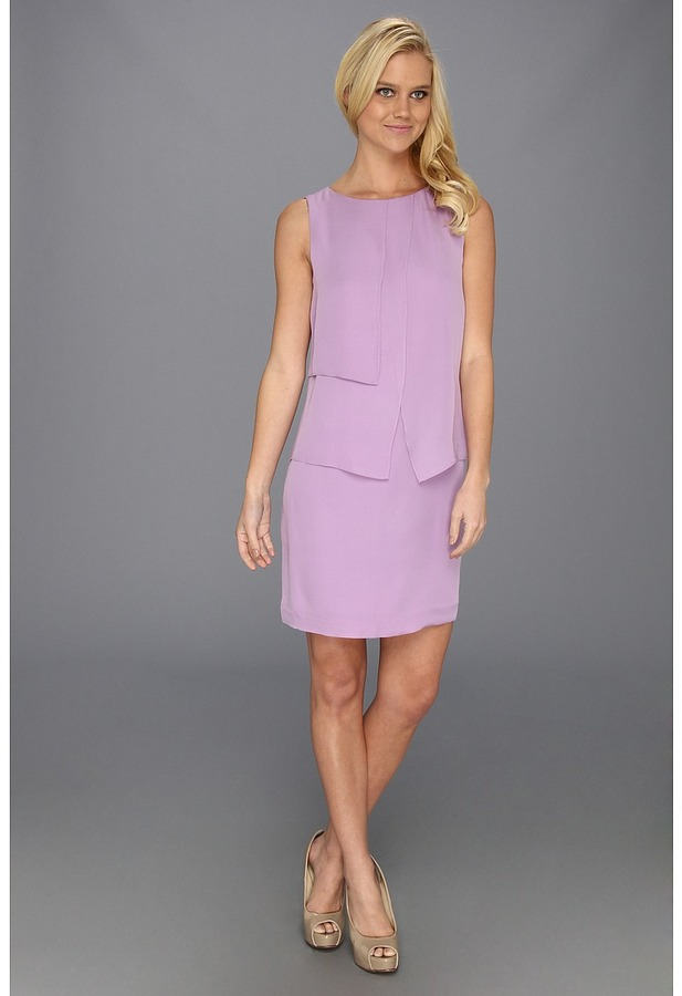 Suzi Chin for Maggy Boutique - Sleeveless Layered Shift Dress (Orchid) - Apparel