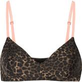 The Upside Ballet leopard-print stretch-jersey sports bra