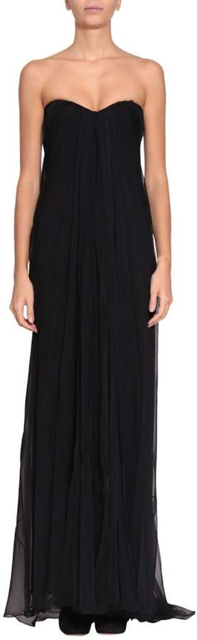 Alexander McQueen Silk Chiffon Bustier Dress