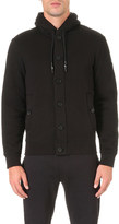Armani Jeans Faux fur-lined cotton hoody