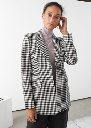 And other stories Tailored Gingham Blazer