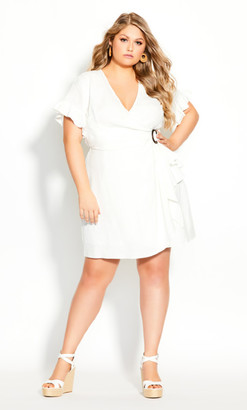 City Chic Perfect Summer Dress - ivory