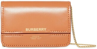 Burberry Horseferry Print Foldover Card Case with Detachable Strap