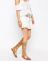 Free People Bellflower Tall Gladiator Leather Flat Sandals