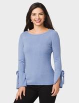 dressbarn Bell-Sleeve Cashmerely Sweater
