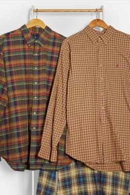 Urban Renewal Vintage Brown Check Ralph Lauren Shirt - Brown S/M at Urban Outfitters