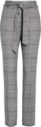 Halogen Tie Waist Houndstooth Pants