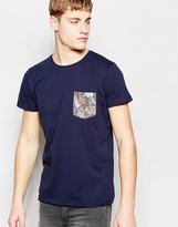 Jack & Jones T-Shirt with Floral Pocket