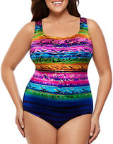 Longitude Plus St. Lucia Striped One-Piece Swimsuit