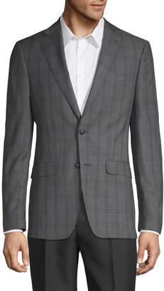 Calvin Klein Windowpane Wool-Blend Jacket
