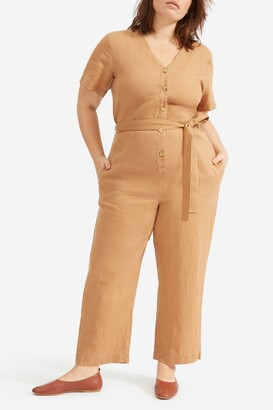 Everlane The Linen Short Sleeve Jumpsuit