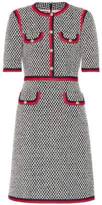 Gucci Web-trimmed cotton dress