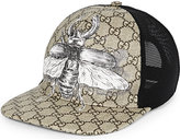 Gucci Beige Printed Classic Insect Canvas Baseball Cap