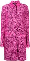 MSGM layered lace midi coat - women - Polyamide/Viscose - 42