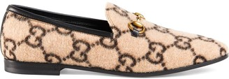 Gucci monogram Horsebit loafers