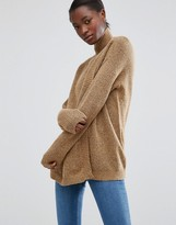 B.young Turtleneck Sweater with Split Front