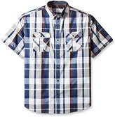 Sean John Men's Big and Tall Short Sleeve Epaulette Shirt