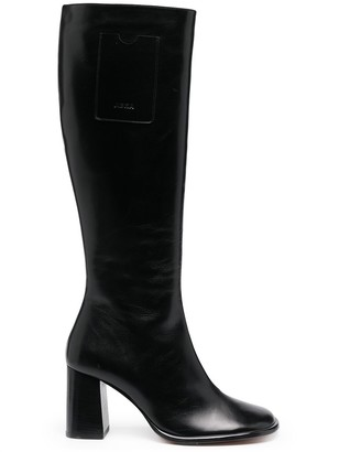 Abra Card knee-high boots